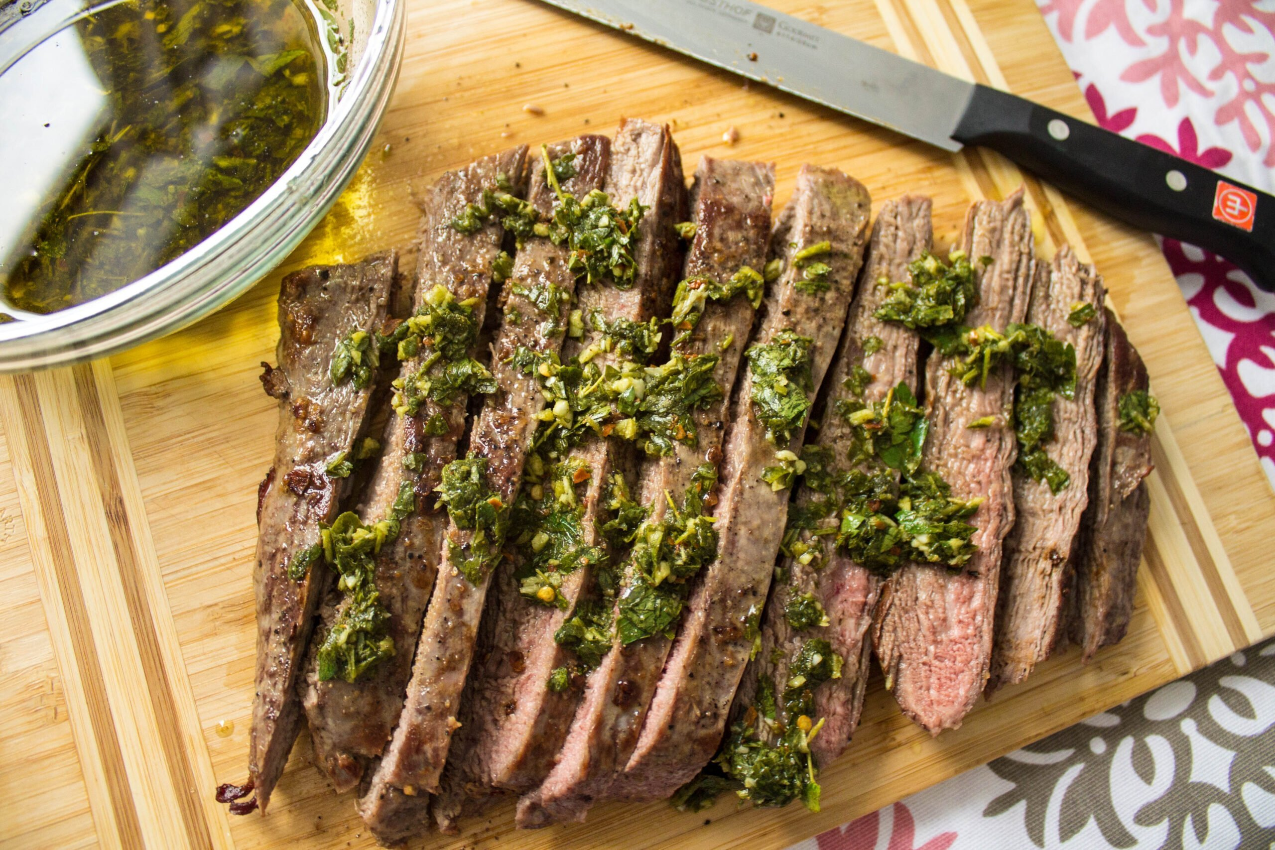 The World Cup Gourmet Series – Argentina: Grilled Flank Steak with Chimichurri Sauce