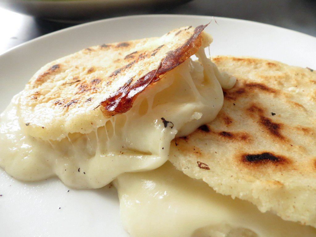 Cheese Stuffed Colombian Arepas Olivia S Cuisine