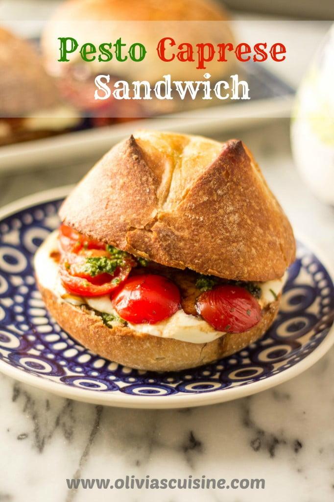 Pesto Caprese Sandwich | www.oliviascuisine.com