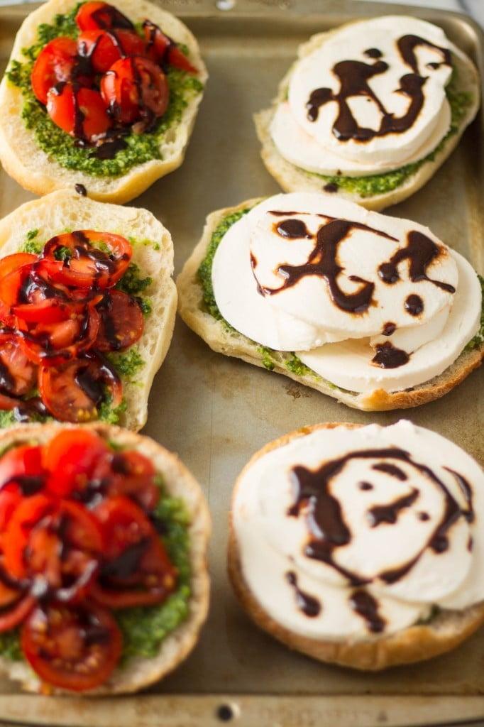 Pesto Caprese Sandwiches | www.oliviascuisine.com
