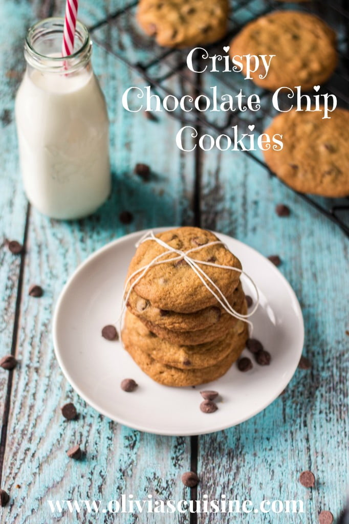 Crispy Chocolate Chip Cookies | www.oliviascuisine.com