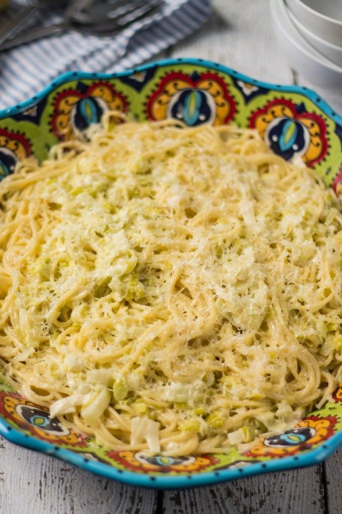 Creamy Leek Spaghetti | www.oliviascuisine.com