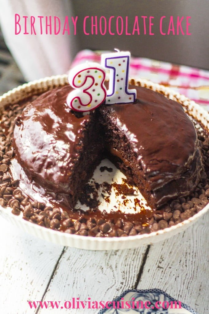 Birthday Chocolate Cake | www.oliviascuisine.com