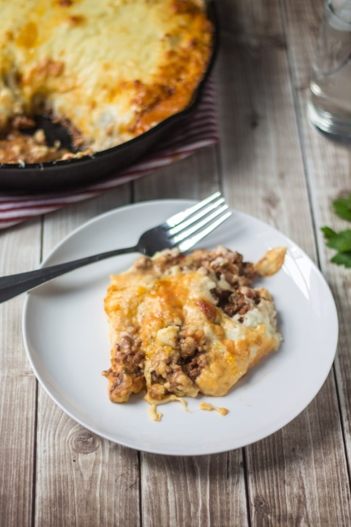 Beef and Mashed Potatoes Casserole  | www.oliviascuisine.com