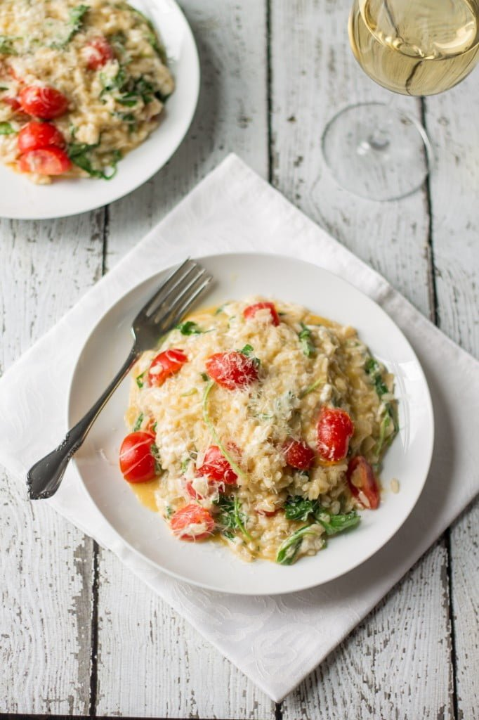 Fresh Tomatoes, Mozzarella and Arugula Risotto   www.oliviascuisine.com