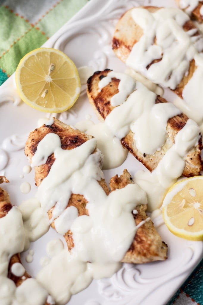 Grilled Chicken with Creamy Lemon Sauce   www.oliviascuisine.com