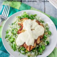 Grilled Chicken with Creamy Lemon Sauce
