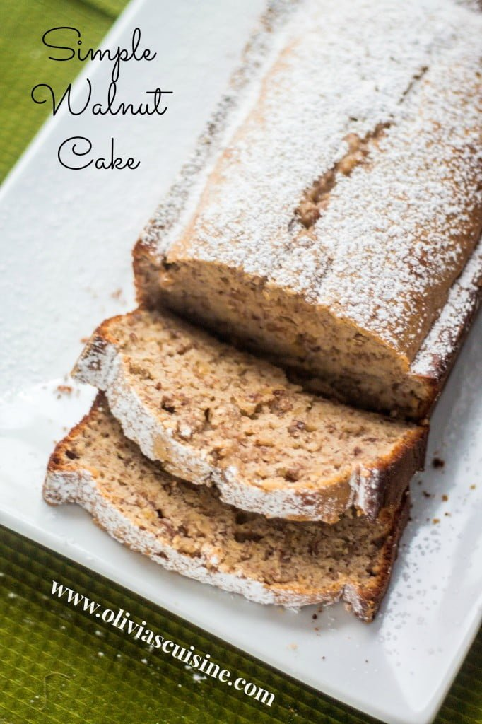 Simple Walnut Cake | www.oliviascuisine.com