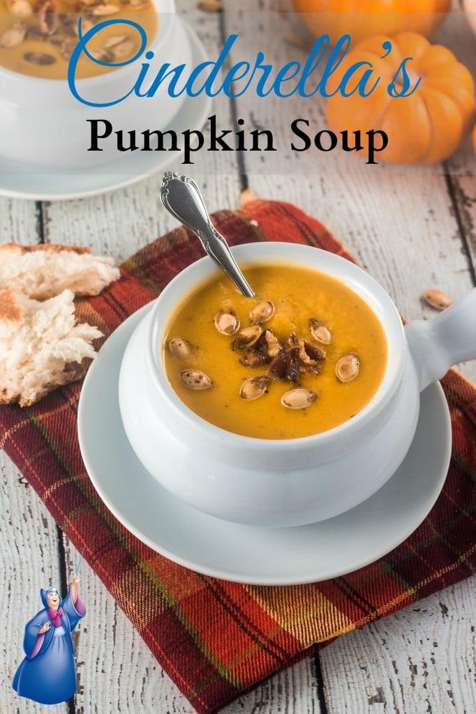 The Disney Gourmet Series - Cinderella's Pumpkin Soup | www.oliviascuisine.com