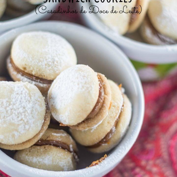 Dulce de Leche Sandwich Cookies (Casadinhos de Doce de Leite)