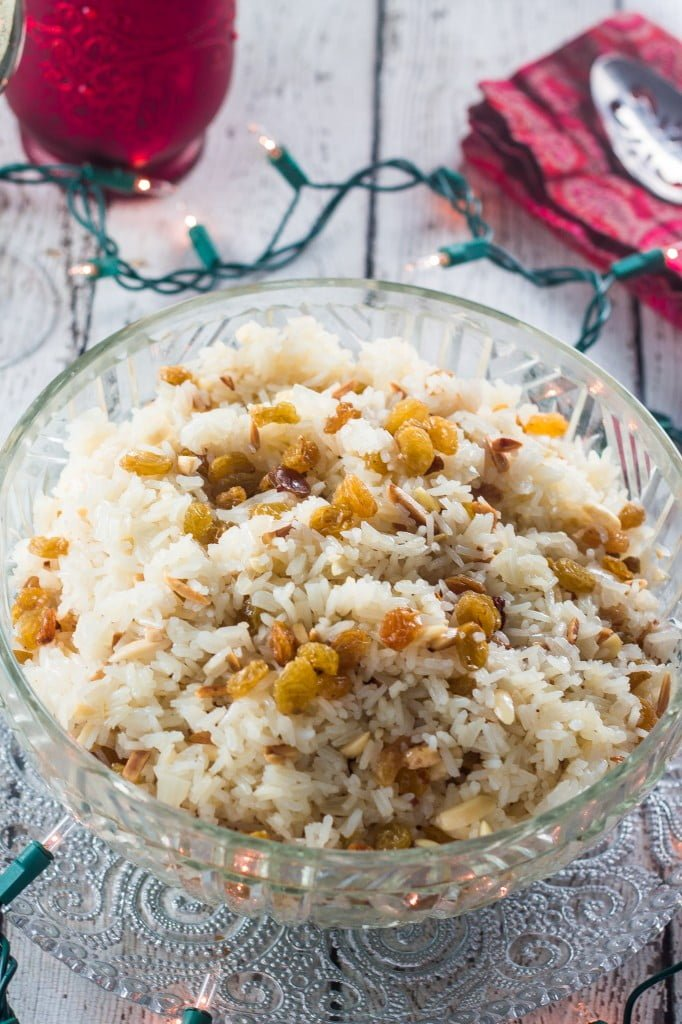 Rice with Almonds and Raisins | www.oliviascuisine.com