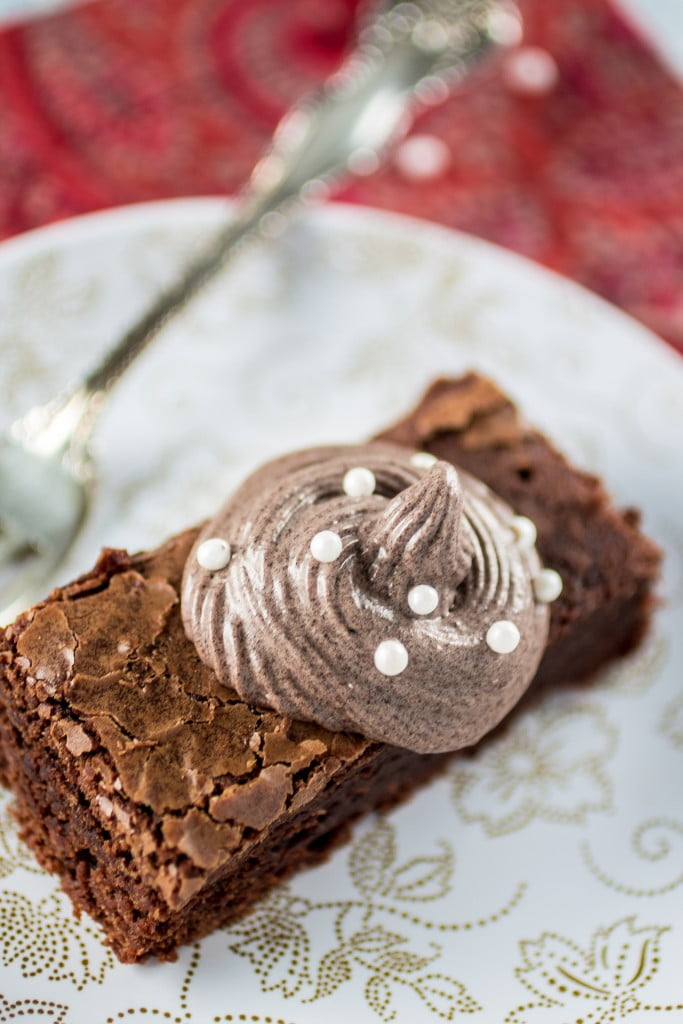 The Disney Gourmet Series - Beauty and the Beast's Grey Stuff Brownie | www.oliviascuisine.com