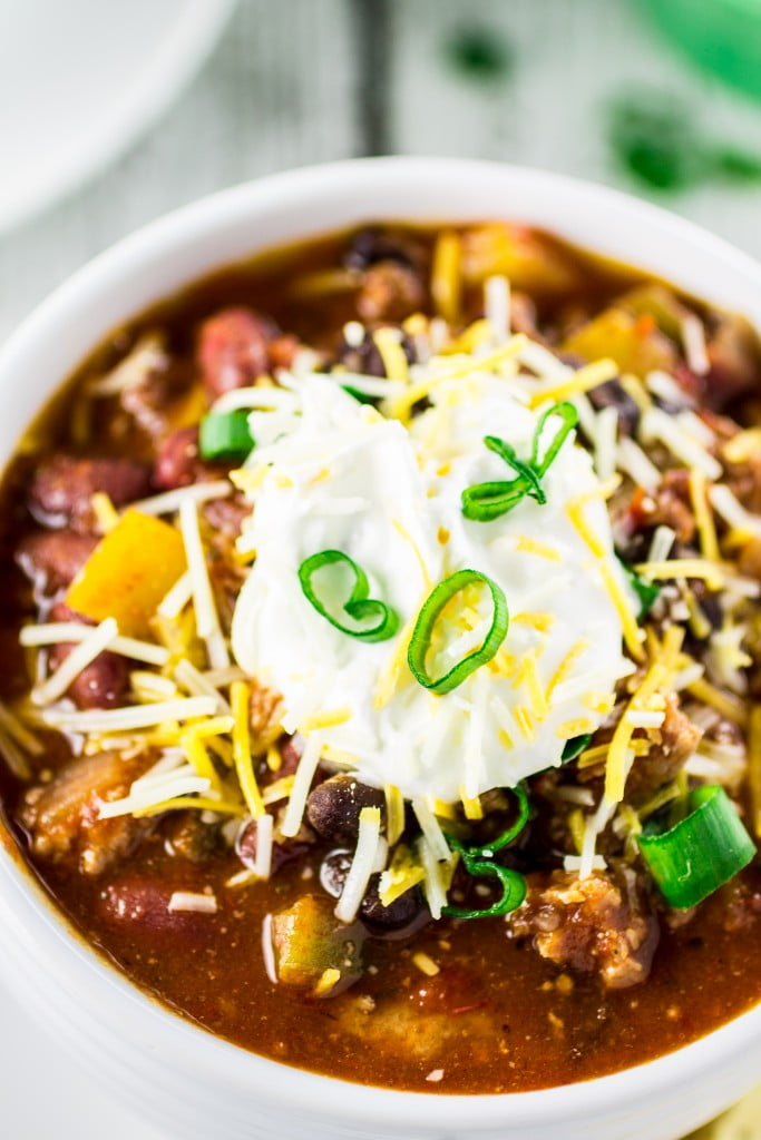 The Best Turkey Chili Ever! | www.oliviascuisine.com