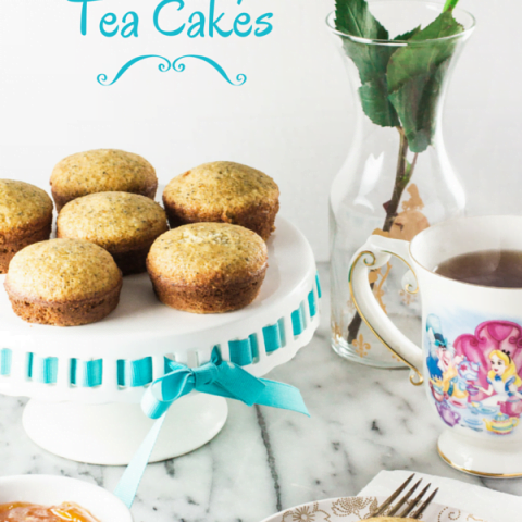 The Disney Gourmet Series - Alice's Earl Grey Tea Cakes | www.oliviascuisine.com | Inspired by Alice in Wonderland, these Earl Grey Tea Cakes are perfect for any tea party or brunch!