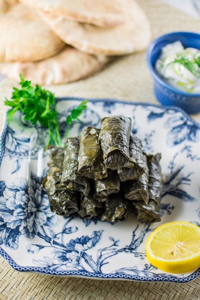 Meat & Rice Stuffed Grape Leaves - Olivia's Cuisine