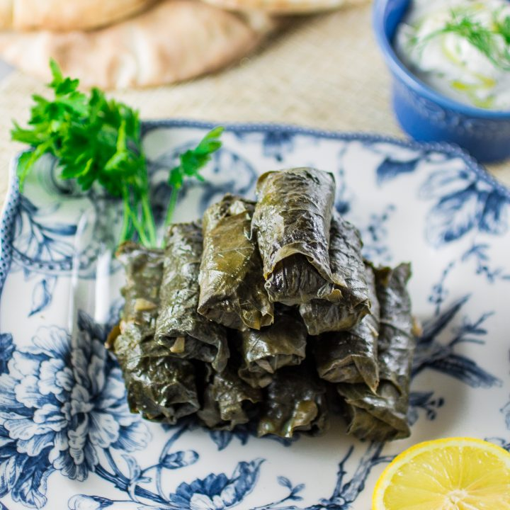 Meat & Rice Stuffed Grape Leaves | www.oliviascuisine.com