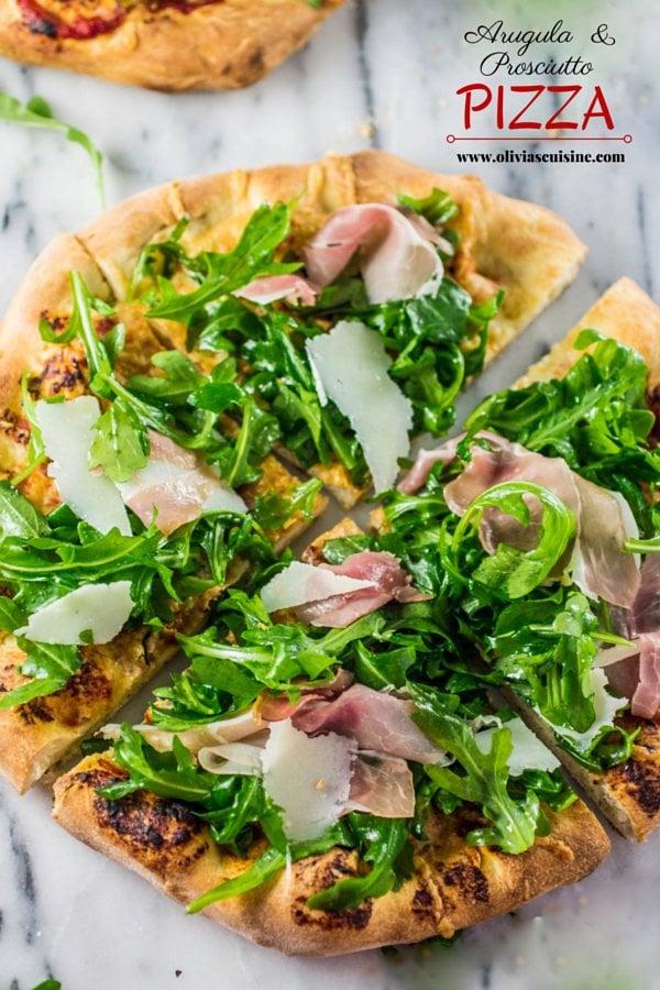 Arugula and Prosciutto Pizza | www.oliviascuisine.com