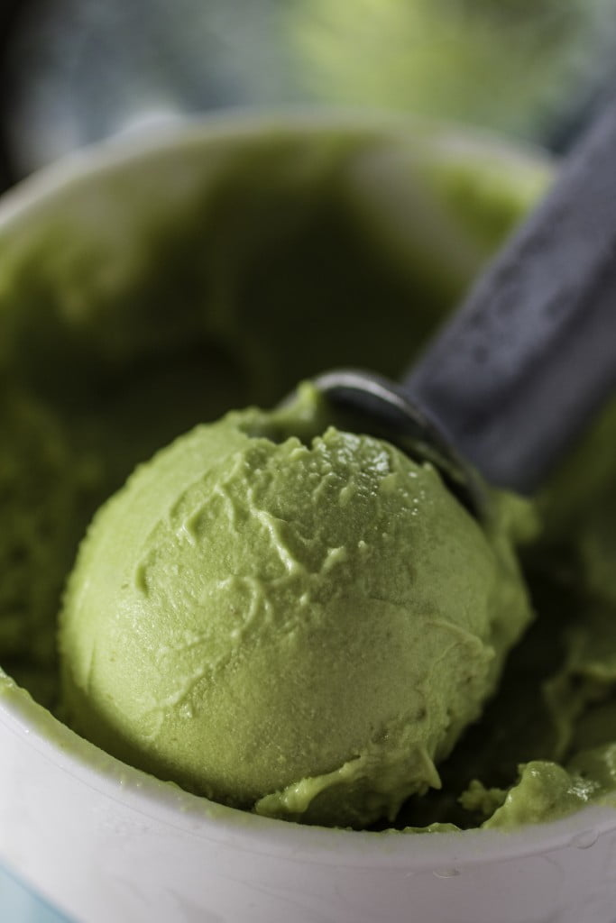 Avocado Ice Cream | www.oliviascuisine.com | Summer is here and it's time to indulge in this creamy, mouth-watering, delicious Avocado Ice Cream! No eggs, easy to make (in the blender), ice cream machine optional!