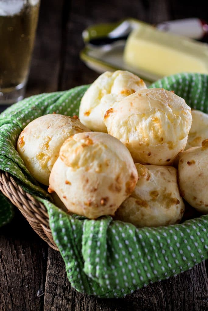 Authentic Brazilian Cheese Bread (Pão de Queijo)   www.oliviascuisine.com   The most popular Brazilian snack is gluten free and loaded with gooey cheese. You'll be hooked!
