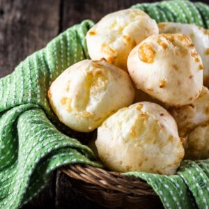 Authentic Brazilian Cheese Bread (Pão de Queijo) | www.oliviascuisine.com | The most popular Brazilian snack is gluten free and loaded with gooey cheese. You'll be hooked!