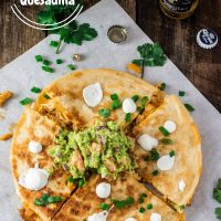 Easy Chicken Quesadilla