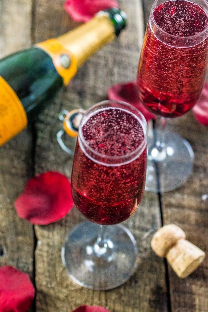 Hibiscus Champagne Cocktail Olivias Cuisine