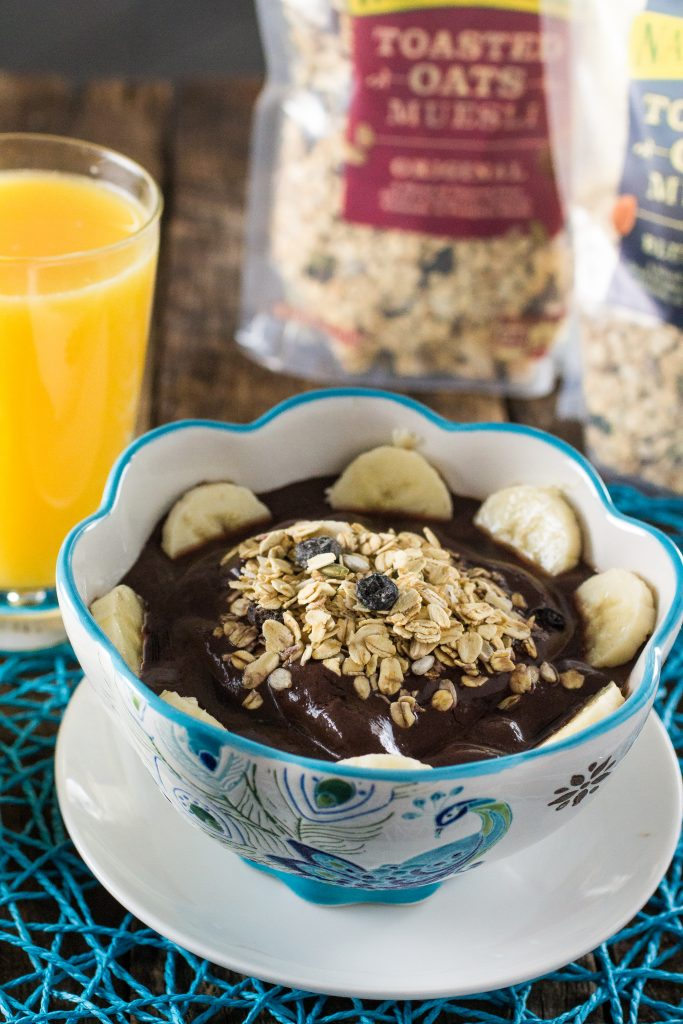 Brazilian Acai Bowl   www.oliviascuisine.com   A quick and easy breakfast that is packed with energy, antioxidants, protein and vitamins. Oh, did I mention it is vegan? :)