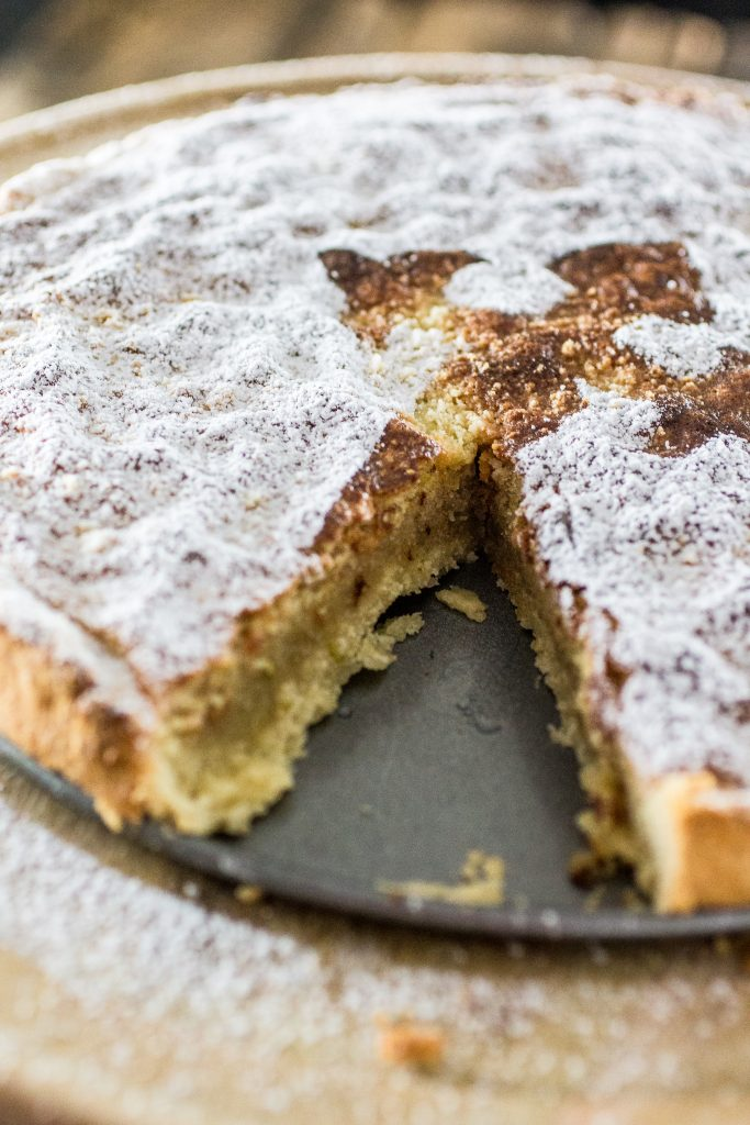 Torta de Santiago (Spanish Almond Pie) | www.oliviascuisine.com | Torta de Santiago (in Galician) or Tarta de Santiago (in Spanish) is a popular almond pie served in Santiago de Compostela. It is usually marked with the cross of the Order of Santiago.