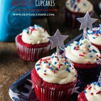 Patriotic Red Velvet Cupcakes