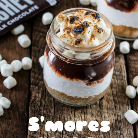 S'mores in a Jar | www.oliviascuisine.com | No campfire? No problem! This recipe for S'mores in a Jar is made at the comfort of your home and can be enjoyed indoors! #LetsMakeSmores #Ad