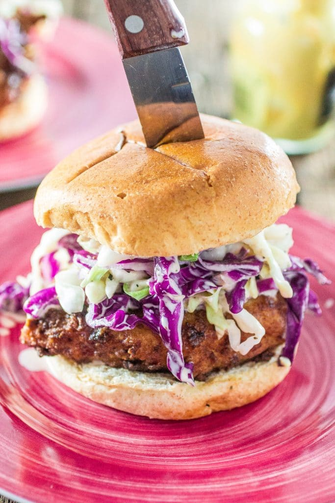 Southern-Inspired Fried Chicken Sandwich with Homemade Mustard Cole Slaw | www.oliviascuisine.com