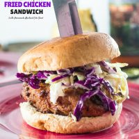 Southern-Inspired Fried Chicken Sandwich with Homemade Mustard Cole Slaw