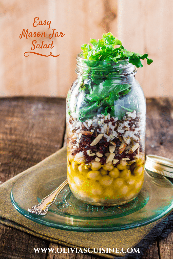 Easy Mason Jar Salad | www.oliviascuisine.com
