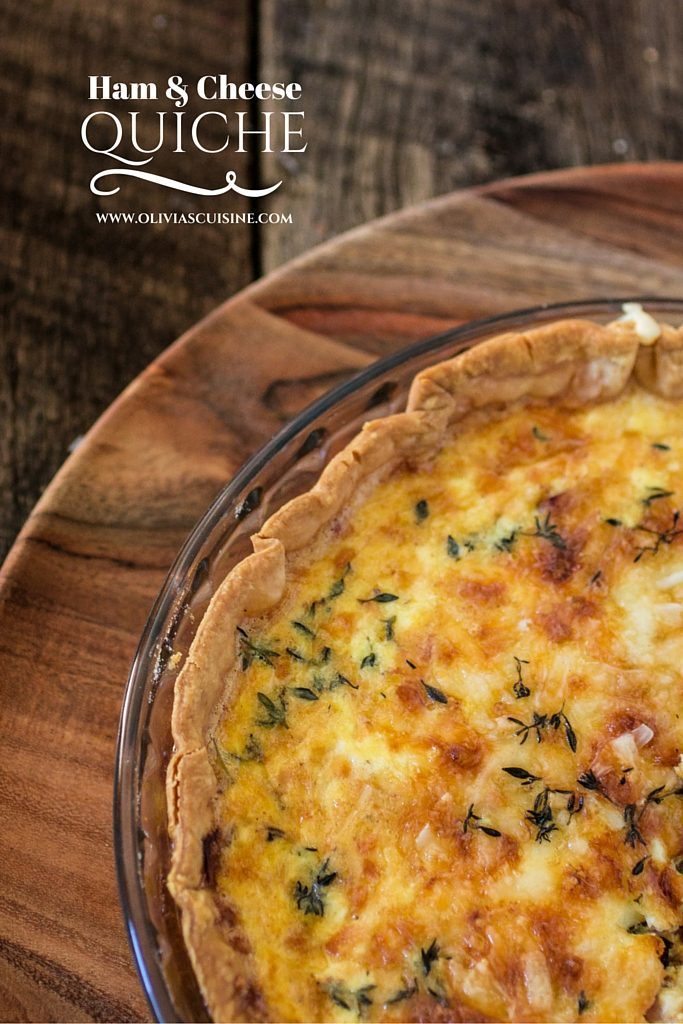 Ham and Cheese Quiche | www.oliviascuisine.com | This delicious ham and cheese quiche will be the star of your next brunch! Made with Boar's Head SmokeMaster Beechwood Smoked™ Black Forest Ham!