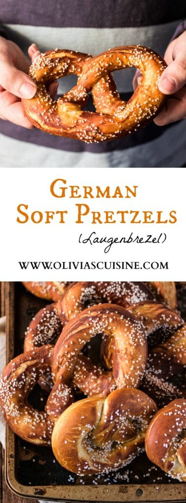 German Soft Pretzels (Laugenbrezel)   www.oliviascuisine.com   Oktoberfest is here and I'm sure you're looking for a good pretzel recipe to go with all that beer! ;-)