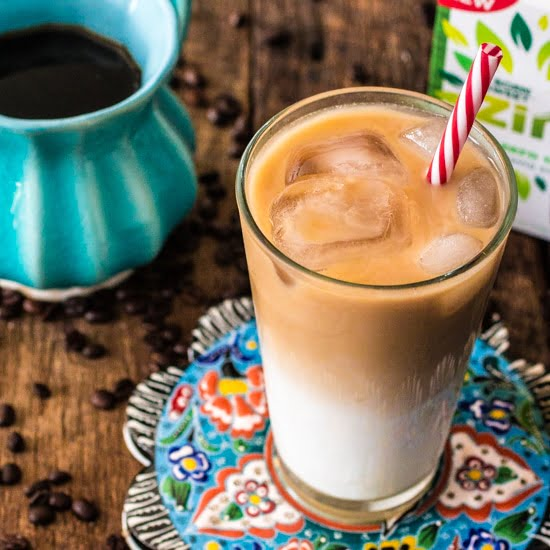 Thai Iced Coffee   www.oliviascuisine.com   A healthier version of Thai Iced Coffee using Born Sweet® Zing™ Zero Calorie Stevia Sweetener instead of the traditional sweet condensed milk! #AmaZINGStevia