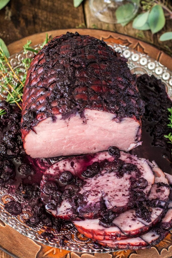 Blueberry Glazed Ham   www.oliviascuisine.com   Blueberries make the most perfect glaze for you Thanksgiving (or Christmas) Ham! (Sponsored by the U.S. Blueberry Council)