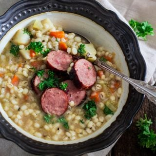 German Sausage and Barley Soup (Graupensuppe)