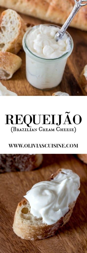 Requeijão (Brazilian Cream Cheese) | www.oliviascuisine.com | Brazilian cream cheese made in less than 10 minutes with the aid of a blender! Incredibly soft and creamy and way better than regular cream cheese. No wonder Brazilians are crazy about this stuff!