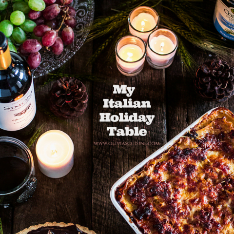 My Italian Holiday Table: Lasagna Bolognese and Baci Chocolate Tart with Hazelnut Crust | www.oliviascuisine.com | Still looking for good recipes for the holidays? #JoinTheTable and make this Italian feast with @Colavitaoliveoil and @Perugina. I guarantee you won't regret it! #Perugina #sponsored