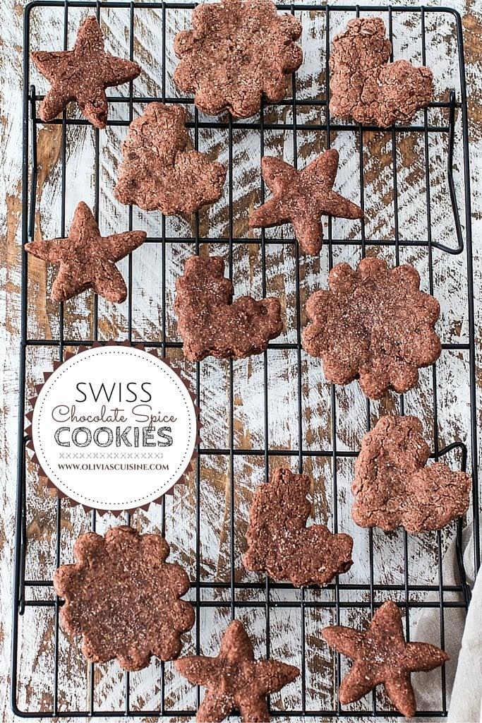Swiss Chocolate Spice Cookies Basler Brunsli