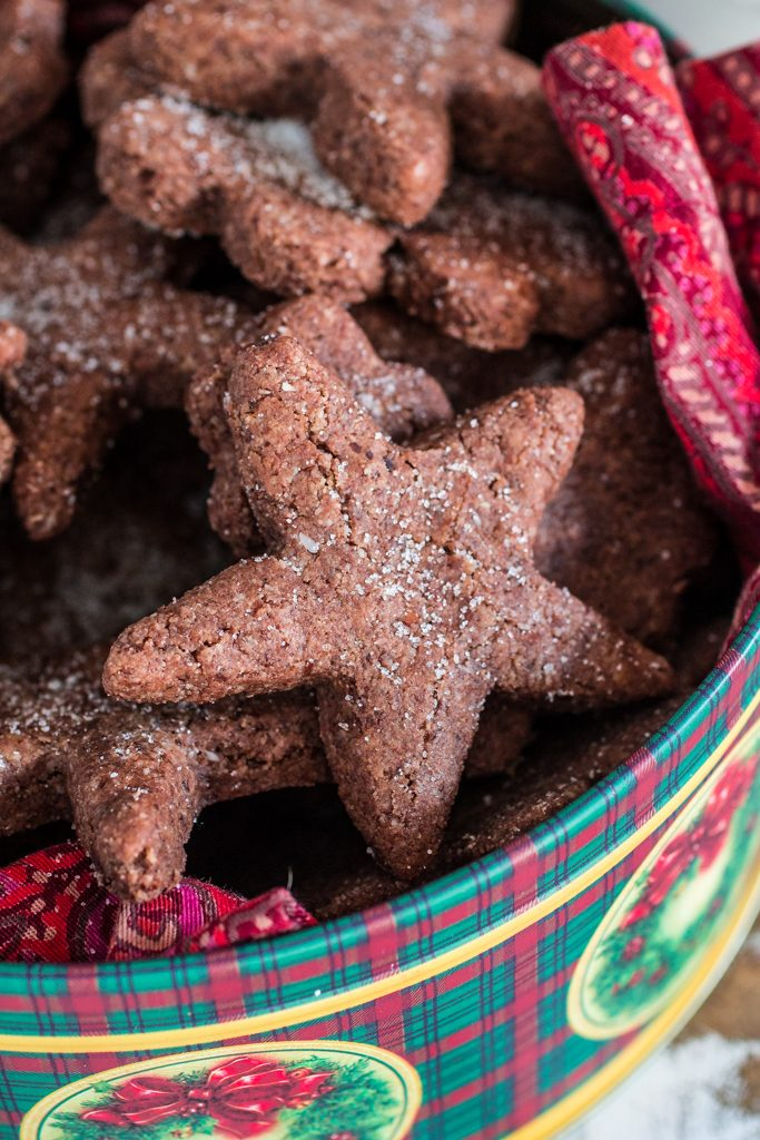 Swiss Chocolate Spice Cookies (Basler Brunsli)   www.oliviascuisine.com   These chocolate spice cookies make the best edible Christmas gift! Perfect with a cup of @Starbucks Holiday Blend! :) #MakeItMerrier #holidays #ad
