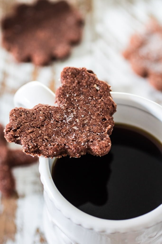 Swiss Chocolate Spice Cookies (Basler Brunsli) | www.oliviascuisine.com | These chocolate spice cookies make the best edible Christmas gift! Perfect with a cup of @Starbucks Holiday Blend! :) #MakeItMerrier #holidays #ad