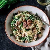 Collard Greens and Italian Sausage Risotto