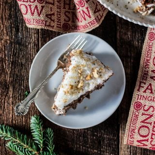 Brazilian Walnut Torte | www.oliviascuisine.com | My grandmother's Christmas torte is incredibly addicting. Only 5 ingredients create this rich, decadent dessert that will be the perfect addition to your holiday table.