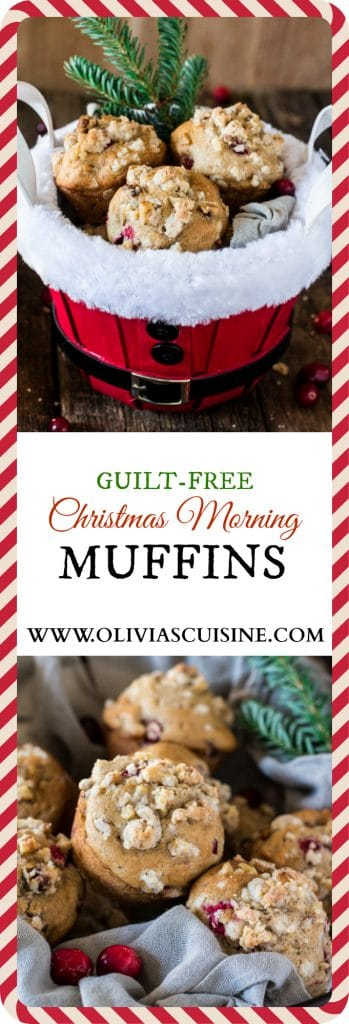 Guilt-Free Christmas Morning Muffins | www.oliviascuisine.com | These muffins are everything you would hope for on a Christmas morning. Moist, fragrant, tasty and loaded with walnuts and fresh cranberries. Also, they are sweetened with Zing™ Baking Blend, so they have reduced calories! #ZingBakingHoliday #sponsored