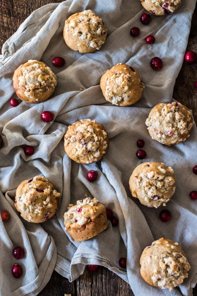 Guilt-Free Christmas Morning Muffins   www.oliviascuisine.com   These muffins are everything you would hope for on a Christmas morning. Moist, fragrant, tasty and loaded with walnuts and fresh cranberries. Also, they are sweetened with Zing™ Baking Blend, so they are low in calories! #ZingBakingHoliday #sponsored