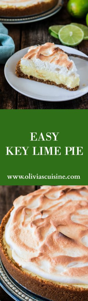 Easy Key Lime Pie | www.oliviascuisine.com | A perfectly sweet and tart dessert that originated in Key West. Super easy and a crowd pleaser! #sponsored #FLKeys