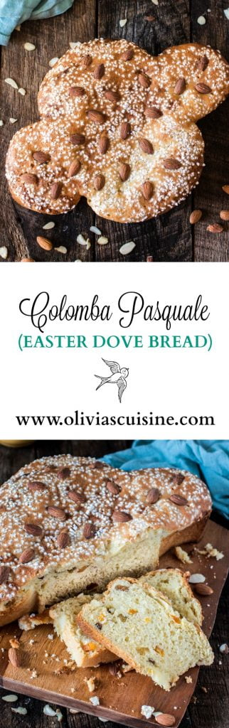Easter Dove Bread (Colomba Pasquale) | www.oliviascuisine.com | This classic Italian sweet bread is a must at my Easter table. Traditionally filled with candied and dried fruit, this delicious sweet bread is great for brunch or dessert, accompanied by some Mascarpone cheese and honey. #sp #BRMEaster #CleverGirls