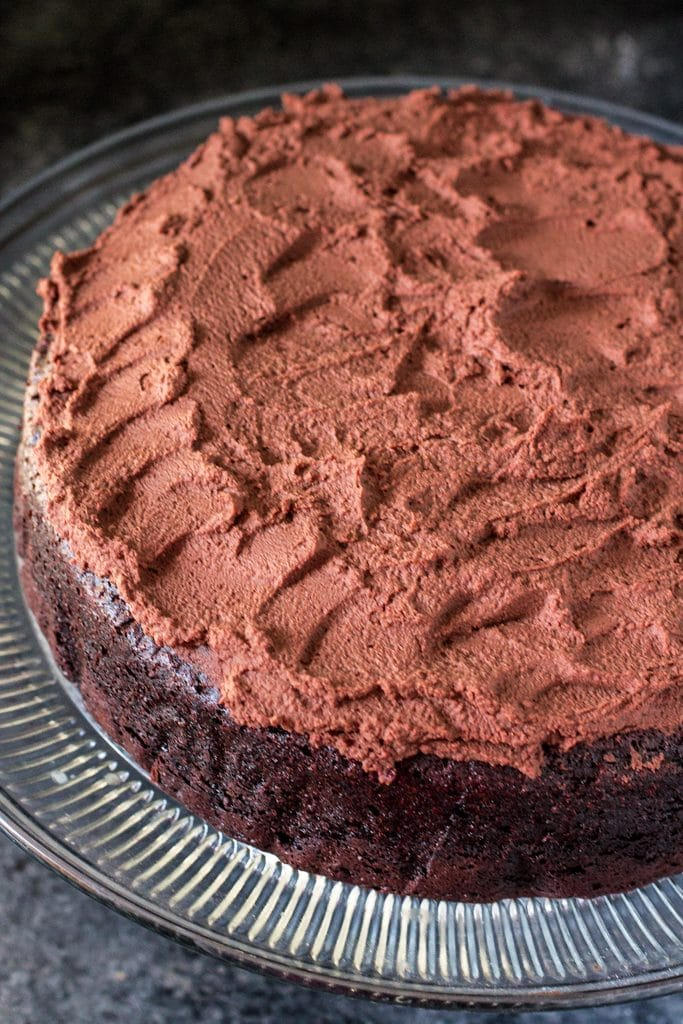 Guinness Chocolate Cake | www.oliviascuisine.com | Rich, moist and decadent , this chocolate cake is made with Guinness beer and is a perfect treat for St Patrick's Day!